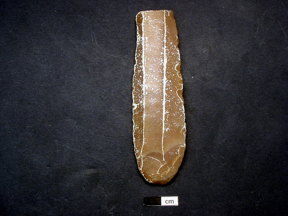 Figure 6: Chert prismatic macro-blade with retouched ends